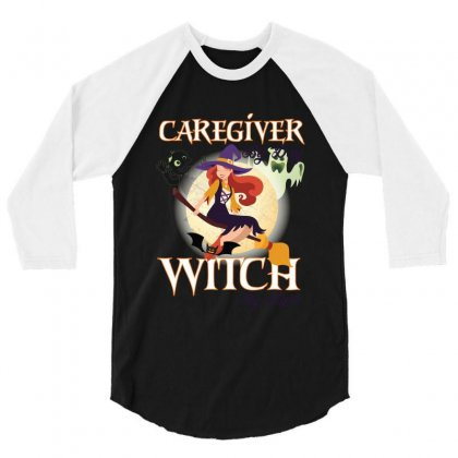 Caregiver Witch 3/4 Sleeve Shirt Designed By Wizarts