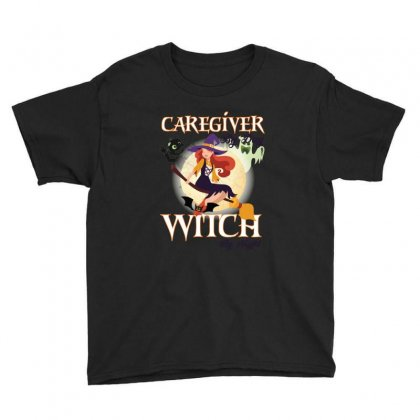 Caregiver Witch Youth Tee Designed By Wizarts