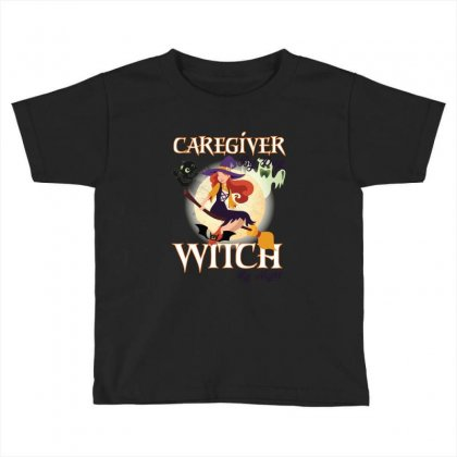 Caregiver Witch Toddler T-shirt Designed By Wizarts