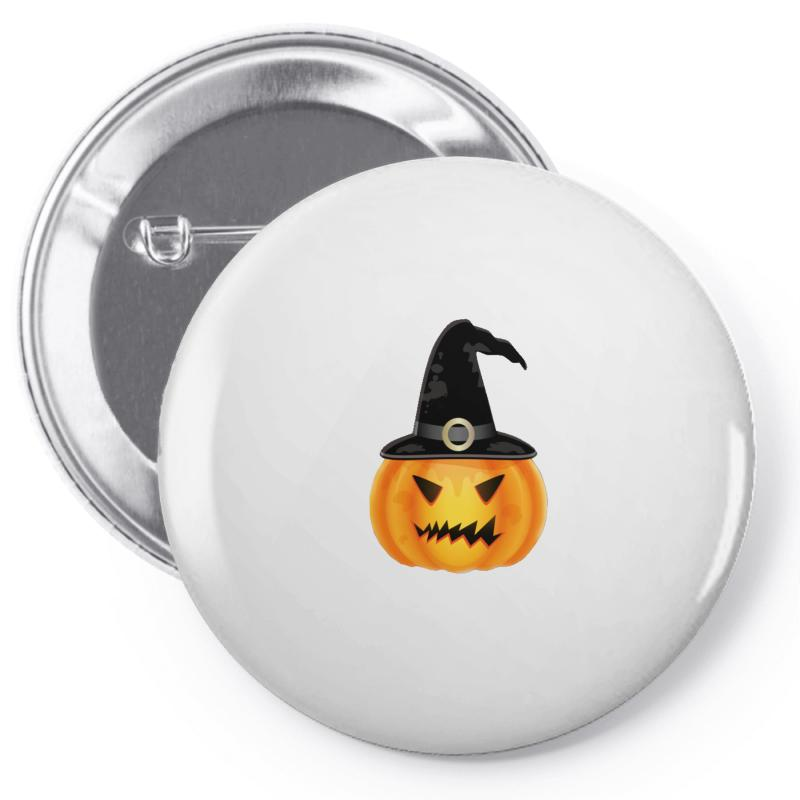 7f9660b0435fb Custom Witch Halloween Pumpkin Pin-back Button By Mdk Art - Artistshot