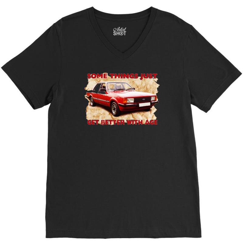 Some Things Get Better Cortina, Ideal Gift Or Birthday Present V-neck Tee   Artistshot