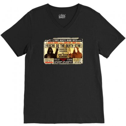 Star Wars Grudge Match Funny Fight Poster 2 Funny Birthday Present V-neck Tee Designed By Mdk Art