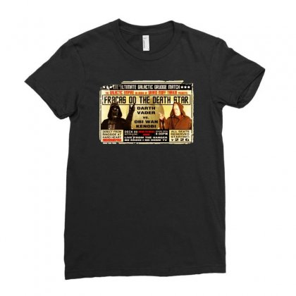 Star Wars Grudge Match Funny Fight Poster 2 Funny Birthday Present Ladies Fitted T-shirt Designed By Mdk Art