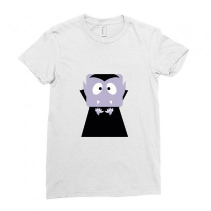 Halloween Vampire Funny Tshirt Ladies Fitted T-shirt Designed By Mdk Art