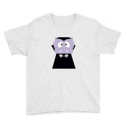 Halloween Vampire Funny Tshirt Youth Tee Designed By Mdk Art