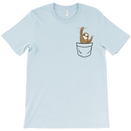 Sloth Pocket T-shirt Designed By Sengul