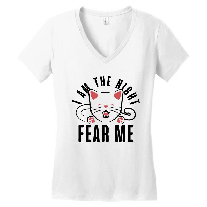 9d19eeb158 Custom I Am The Night Fear Me T Shirt.. Women s V-neck T-shirt By ...