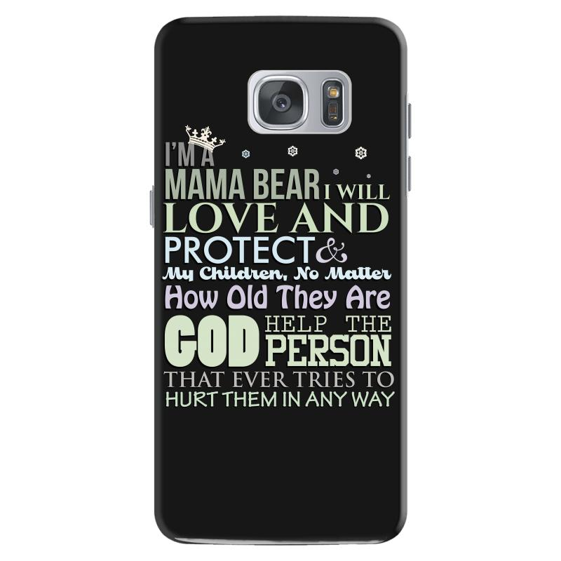 154674734557d i am a mama bear i will love and protect my children Samsung Galaxy S7 Case