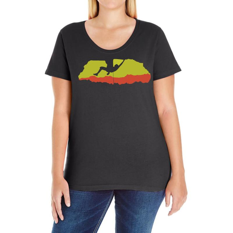 70254aca Custom Climbing Rocks Wall Climb Indoor Outdoor Ladies Curvy T-shirt By Mdk  Art - Artistshot