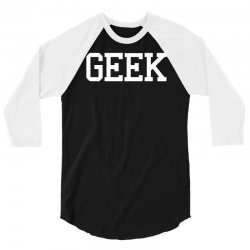 geek printed 3/4 Sleeve Shirt | Artistshot