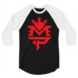 manny pacquiao red mp logo boxer sports 3/4 Sleeve Shirt | Artistshot