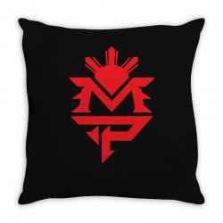 manny pacquiao red mp logo boxer sports Throw Pillow | Artistshot