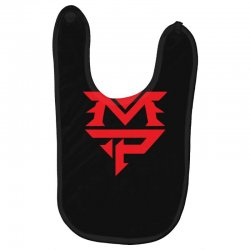 manny pacquiao red mp logo boxer sports Baby Bibs | Artistshot
