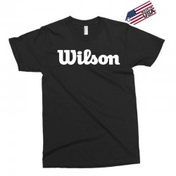 wilson white logo Exclusive T-shirt | Artistshot