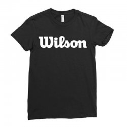 wilson white logo Ladies Fitted T-Shirt | Artistshot