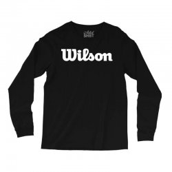 wilson white logo Long Sleeve Shirts | Artistshot