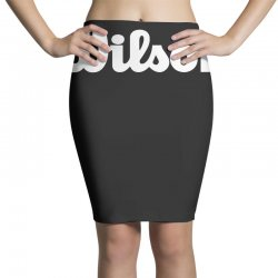 wilson white logo Pencil Skirts | Artistshot