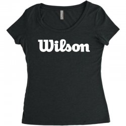wilson white logo Women's Triblend Scoop T-shirt | Artistshot