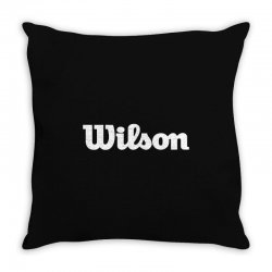 wilson white logo Throw Pillow | Artistshot