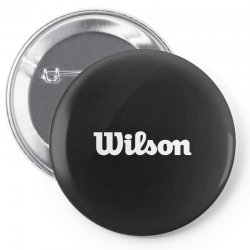 wilson white logo Pin-back button | Artistshot