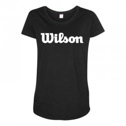 wilson white logo Maternity Scoop Neck T-shirt | Artistshot