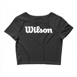 wilson white logo Crop Top | Artistshot