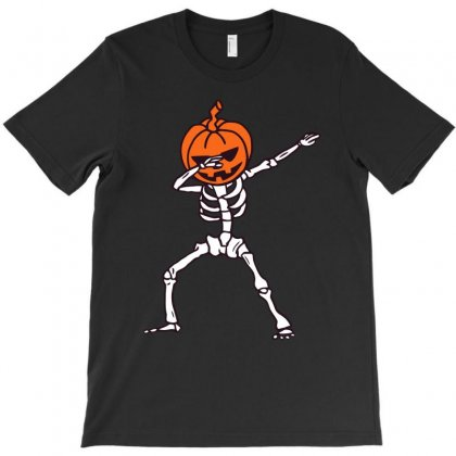 Dabbing Pumpkin Funny Halloween Dab T-shirt Designed By Meza Design