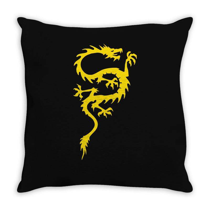 5eb3d52c9a Custom Chinese Dragon Cool Oriental Asian Kung Fu Throw Pillow By ...