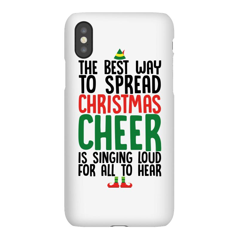 b33ba630 the best way to spread christmas cheer is singing loud for all to hear  iPhoneX Case
