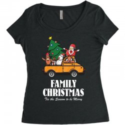 family christmas tis the season to be merry Women's Triblend Scoop T-shirt | Artistshot