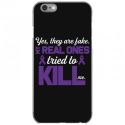 yes,they are fake. my real ones tried to kill me pancreatic cancer iPhone 6/6s Case | Artistshot