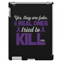 yes,they are fake. my real ones tried to kill me pancreatic cancer iPad 3 and 4 Case | Artistshot