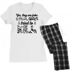 yes, they are fake. my real ones tried to kill me carcinoid cancer Women's Pajamas Set | Artistshot