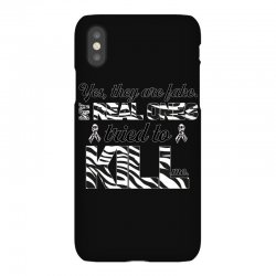 yes, they are fake. my real ones tried to kill me carcinoid cancer iPhoneX Case | Artistshot