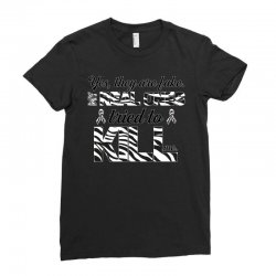 yes, they are fake. my real ones tried to kill me carcinoid cancer Ladies Fitted T-Shirt | Artistshot