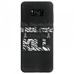 yes, they are fake. my real ones tried to kill me carcinoid cancer Samsung Galaxy S8 Case | Artistshot