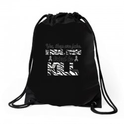 yes, they are fake. my real ones tried to kill me carcinoid cancer Drawstring Bags | Artistshot