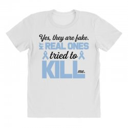 yes, they are fake my real ones tried to kill me stomach cancer All Over Women's T-shirt | Artistshot