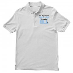 yes, they are fake my real ones tried to kill me stomach cancer Polo Shirt | Artistshot