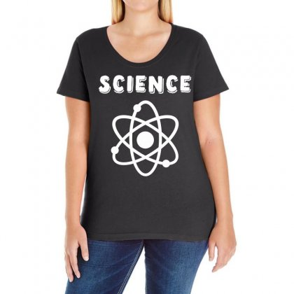 Atoms And Science Ladies Curvy T-shirt Designed By Hot Design
