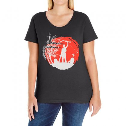 Boomstick Ladies Curvy T-shirt Designed By Hot Design