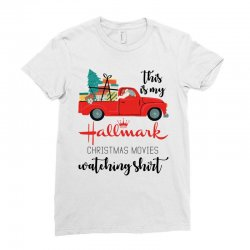 this is my hallmark christmas movies watching shirt Ladies Fitted T-Shirt | Artistshot