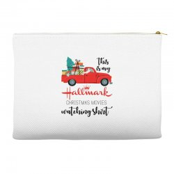 this is my hallmark christmas movies watching shirt Accessory Pouches | Artistshot