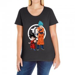 goku and super saiyan Ladies Curvy T-Shirt | Artistshot