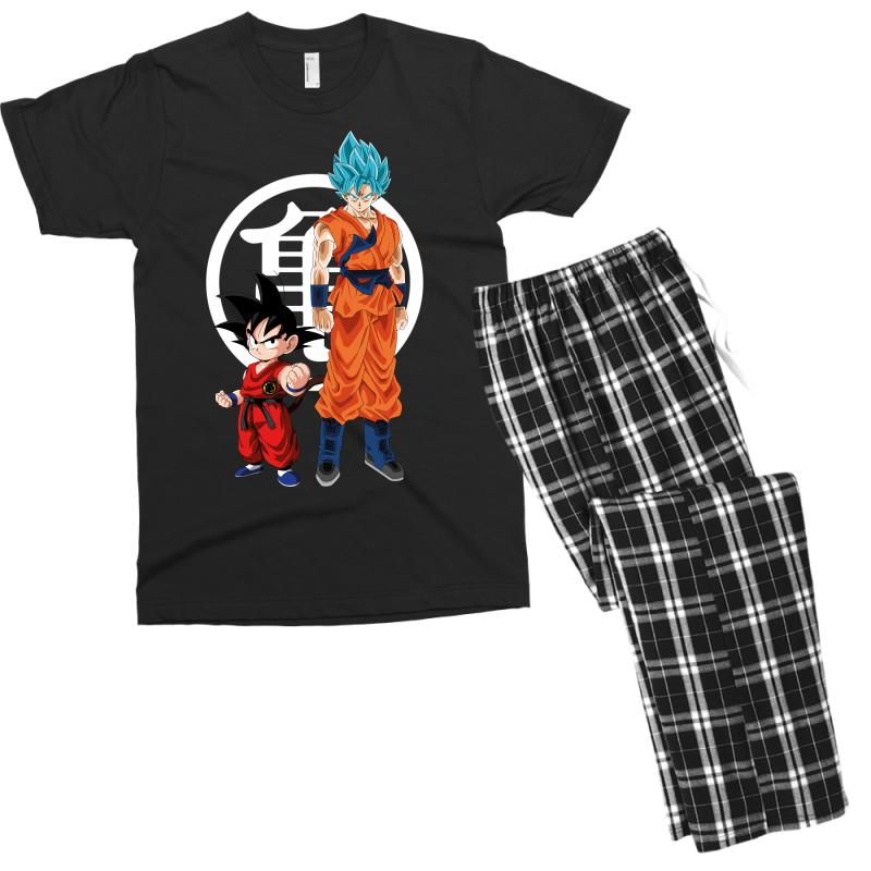 Goku And Super Saiyan Men's T-shirt Pajama Set | Artistshot
