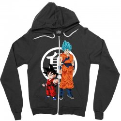 goku and super saiyan Zipper Hoodie | Artistshot