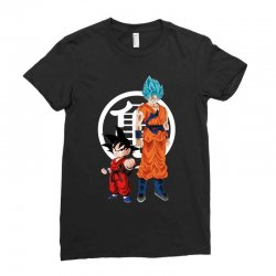 goku and super saiyan Ladies Fitted T-Shirt | Artistshot