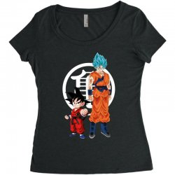 goku and super saiyan Women's Triblend Scoop T-shirt | Artistshot