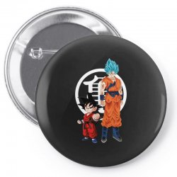 goku and super saiyan Pin-back button | Artistshot