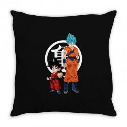 goku and super saiyan Throw Pillow | Artistshot